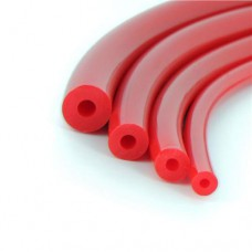 Diržas RR 8x3.2 mm (raudonas tuščiaviduris)