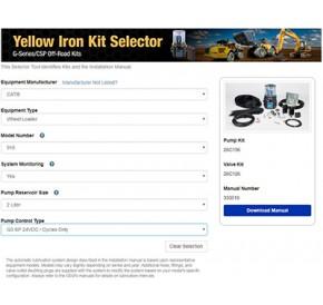 Naujasis įrankis skirtas teisingai pasirinkti tepyklas Yellow Iron technikai